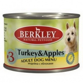 Berkley Turkey&Apples Adult Dog Беркли с индейкой, 200гр.