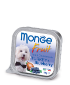 Monge Dog Fruit Монж ламистр индейка с черникой, 100гр.