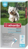 Advantix Адвантикс Капли для собак от 4 до 10 кг. 1 пипетка