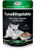 Gina Tuna & Vegetable Джина Пауч тунец/овощи, 85гр.